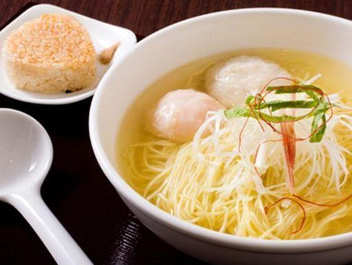"Seafood base RAMEN with ""Heshiko Yaki"" rice ball"
